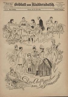 Kladderadatsch, 38. Jahrgang, 12. Juli 1885, Nr. 32 (Beiblatt)