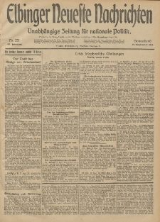 Elbinger Neueste Nachrichten, Nr. 251 Sonnabend 13 September 1913 65. Jahrgang