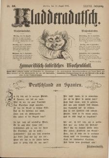 Kladderadatsch, 38. Jahrgang, 30. August 1885, Nr. 40