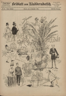 Kladderadatsch, 38. Jahrgang, 6. September 1885, Nr. 41 (Beiblatt)