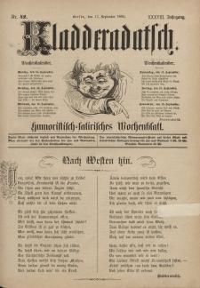 Kladderadatsch, 38. Jahrgang, 13. September 1885, Nr. 42