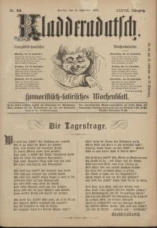Kladderadatsch, 38. Jahrgang, 20. September 1885, Nr. 43