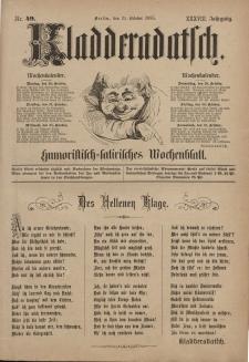 Kladderadatsch, 38. Jahrgang, 25. Oktober 1885, Nr. 49