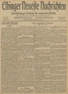 Elbinger Neueste Nachrichten, Nr. 272 Sonnabend 4 Oktober 1913 65. Jahrgang