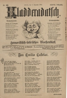 Kladderadatsch, 38. Jahrgang, 15. November 1885, Nr. 52