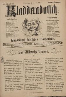 Kladderadatsch, 38. Jahrgang, 22. November 1885, Nr. 53/54