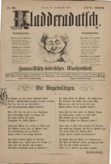 Kladderadatsch, 38. Jahrgang, 29. November 1885, Nr. 55