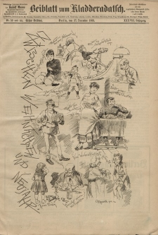 Kladderadatsch, 38. Jahrgang, 27. Dezember 1885, Nr. 59/60 (Beiblatt)
