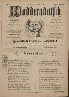 Kladderadatsch, 39. Jahrgang, 17. Januar 1886, Nr. 3