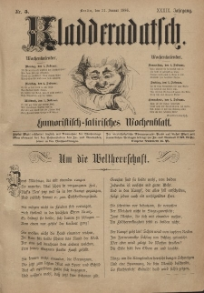 Kladderadatsch, 39. Jahrgang, 31. Januar 1886, Nr. 5