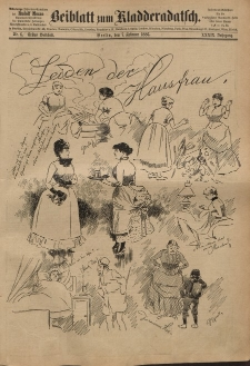 Kladderadatsch, 39. Jahrgang, 7. Februar 1886, Nr. 6 (Beiblatt)