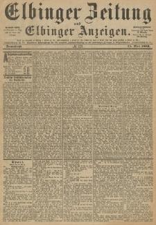 Elbinger Zeitung und Elbinger Anzeigen, Nr. 121 Sonnabend 25. Mai 1889