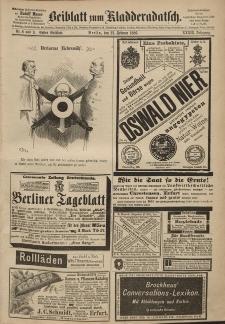 Kladderadatsch, 39. Jahrgang, 21. Februar 1886, Nr. 8/9 (Beiblatt)