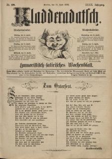 Kladderadatsch, 39. Jahrgang, 25. April 1886, Nr. 19