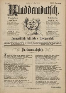 Kladderadatsch, 39. Jahrgang, 4. Juli 1886, Nr. 31