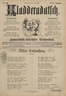 Kladderadatsch, 39. Jahrgang, 11. Juli 1886, Nr. 32
