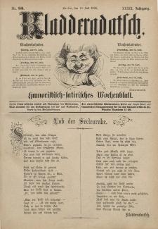 Kladderadatsch, 39. Jahrgang, 18. Juli 1886, Nr. 33