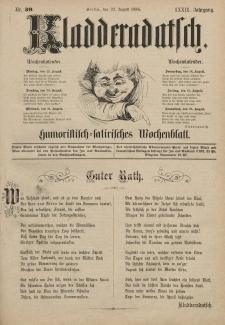 Kladderadatsch, 39. Jahrgang, 22. August 1886, Nr. 39