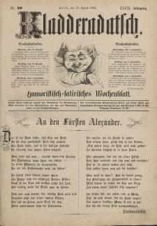 Kladderadatsch, 39. Jahrgang, 29. August 1886, Nr. 40