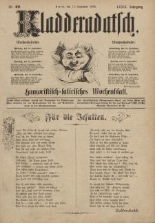 Kladderadatsch, 39. Jahrgang, 12. September 1886, Nr. 42