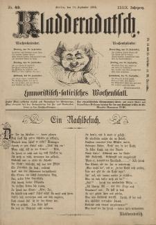 Kladderadatsch, 39. Jahrgang, 19. September 1886, Nr. 43