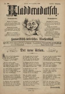 Kladderadatsch, 39. Jahrgang, 24. Oktober 1886, Nr. 49
