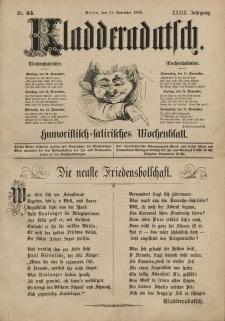 Kladderadatsch, 39. Jahrgang, 21. November 1886, Nr. 54