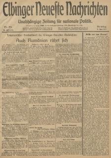 Elbinger Neueste Nachrichten, Nr. 154 Sonntag 8 Juni 1913 65. Jahrgang