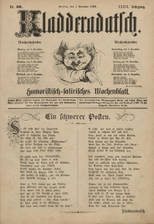 Kladderadatsch, 39. Jahrgang, 5. Dezember 1886, Nr. 56