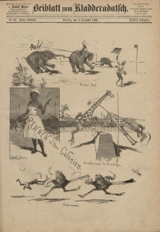 Kladderadatsch, 39. Jahrgang, 5. Dezember 1886, Nr. 56 (Beiblatt)
