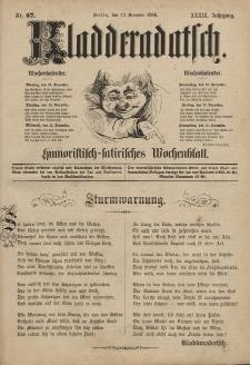 Kladderadatsch, 39. Jahrgang, 12. Dezember 1886, Nr. 57