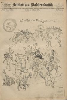 Kladderadatsch, 40. Jahrgang, 2. Januar 1887, Nr. 1 (Beiblatt)