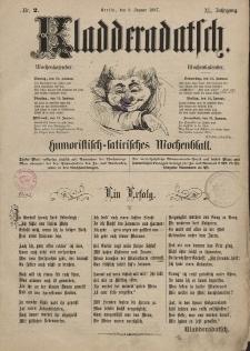 Kladderadatsch, 40. Jahrgang, 9. Januar 1887, Nr. 2