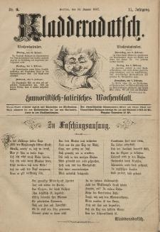 Kladderadatsch, 40. Jahrgang, 30. Januar 1887, Nr. 5