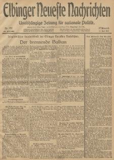 Elbinger Neueste Nachrichten, Nr. 157 Mittwoch 11 Juni 1913 65. Jahrgang
