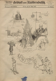 Kladderadatsch, 40. Jahrgang, 27. März 1887, Nr. 14/15 (Beiblatt)