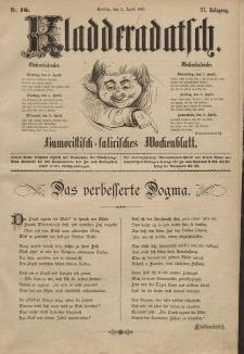 Kladderadatsch, 40. Jahrgang, 3. April 1887, Nr. 16