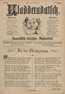 Kladderadatsch, 40. Jahrgang, 10. April 1887, Nr. 17