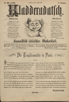 Kladderadatsch, 40. Jahrgang, 15. Mai 1887, Nr. 22/23