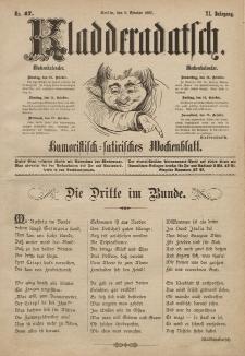 Kladderadatsch, 40. Jahrgang, 9. Oktober 1887, Nr. 47