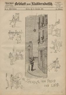 Kladderadatsch, 40. Jahrgang, 13. November 1887, Nr. 52 (Beiblatt)