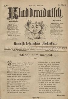 Kladderadatsch, 41. Jahrgang, 8. Januar 1888, Nr. 2