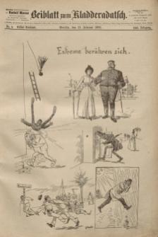 Kladderadatsch, 41. Jahrgang, 19. Februar 1888, Nr. 9 (Beiblatt)