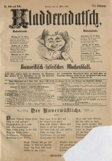 Kladderadatsch, 41. Jahrgang, 25. März 1888, Nr. 14/15