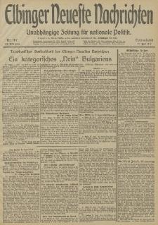 Elbinger Neueste Nachrichten, Nr. 167 Sonnabend 21 Juni 1913 65. Jahrgang