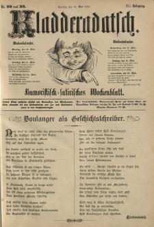 Kladderadatsch, 41. Jahrgang, 13. Mai 1888, Nr. 22/23