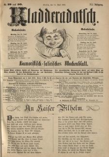 Kladderadatsch, 41. Jahrgang, 24. Juni 1888, Nr. 29/30