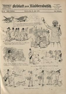 Kladderadatsch, 41. Jahrgang, 15. Juli 1888, Nr. 33 (Beiblatt)