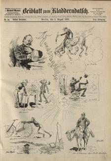 Kladderadatsch, 41. Jahrgang, 5. August 1888, Nr. 36 (Beiblatt)