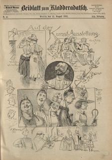 Kladderadatsch, 41. Jahrgang, 12. August 1888, Nr. 37 (Beiblatt)